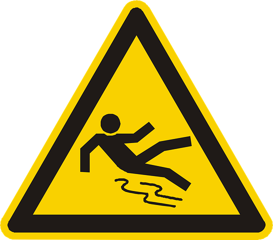 Fall hazards - slippery floor