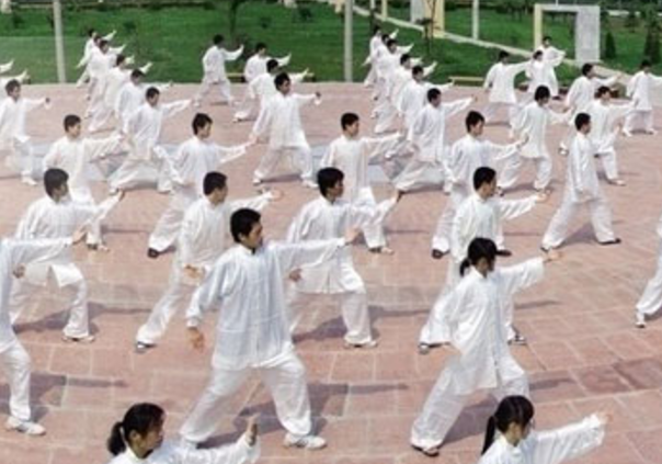 Group practice of Tai Chi