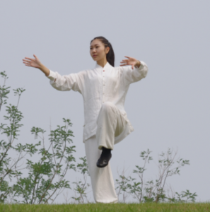 Girl practicing Tai Chi