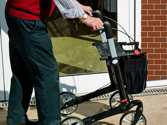 Man walking with rollator