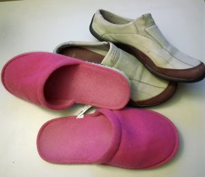 Open-backed slippers and slip-on shoes are not safe for elderly