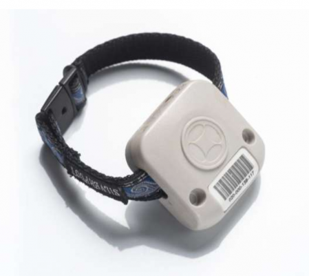 Wristband that elderly wore so that their walking pattern can be tracked.